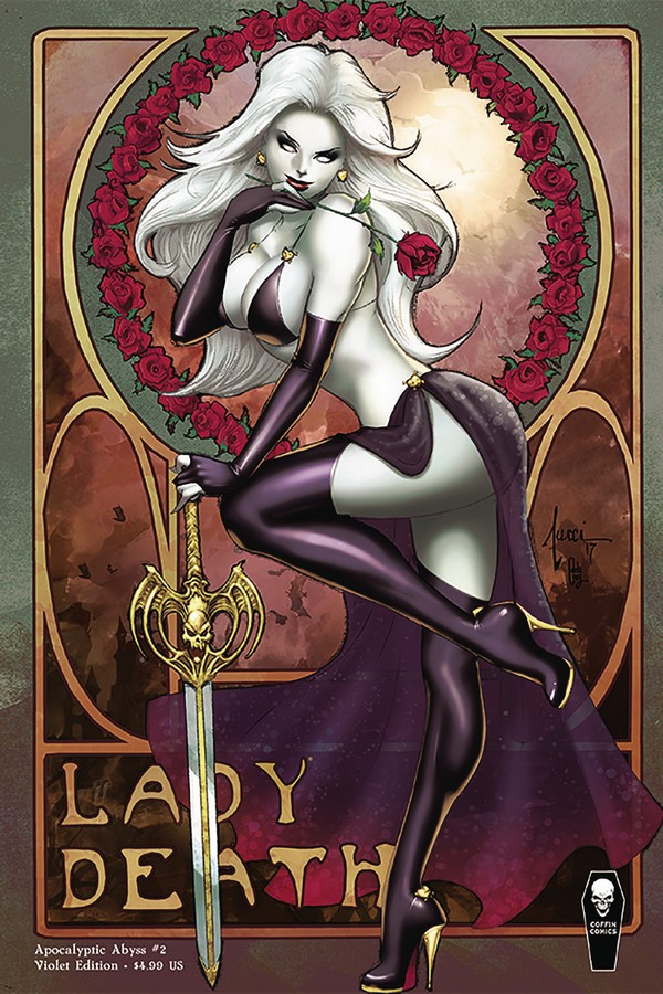 LADY DEATH APOCALYPTIC ABYSS 2 (OF 2) VIOLET VAR COVER (VO)