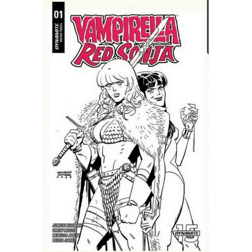 VAMPIRELLA RED SONJA 1 40 COPY ROMERO & BELLAIRE B&W (VO)
