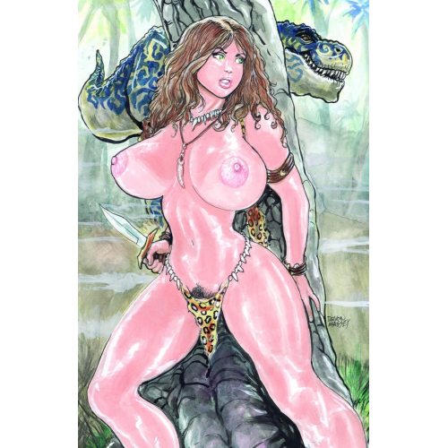 CAVEWOMAN TERROR IN THE SKIES CVR B MASSEY NUDE (VO)