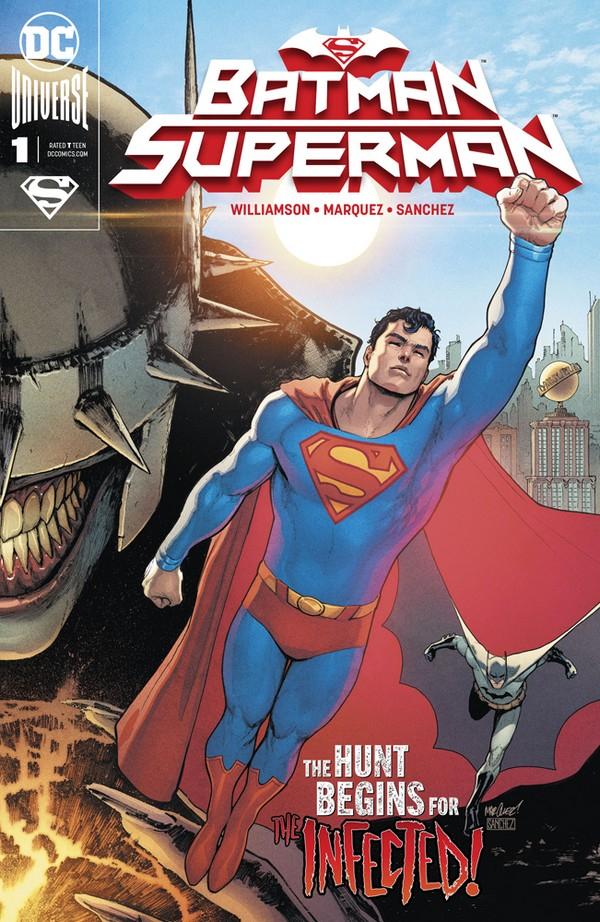Batman Superman 1 Connecting B Signé par Joshua Williamson (VO)