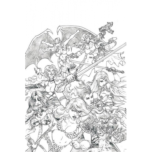 RED SONJA AGE OF CHAOS 1 50 COPY QUAH SKETCH VIRGIN INCV (VO)