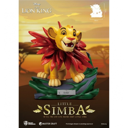 Disney - Beast Kingdom - The Lion King - Le Roi Lion - Master Craft Little Simba Statue - 30cm