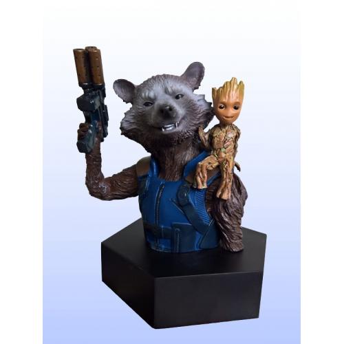 Figurine Buste Marvel Rocket Raccoon & Groot