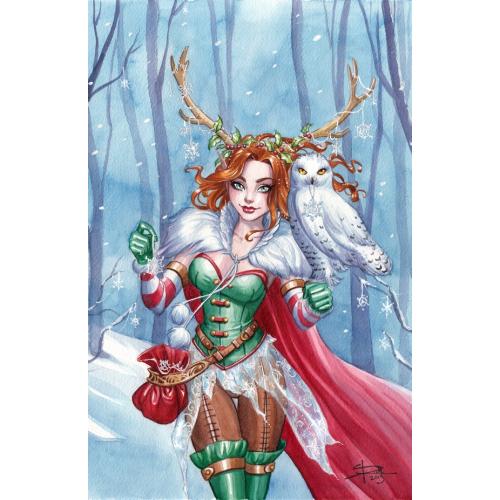 CARTE POSTALE Fairy Owl - Sabine Rich