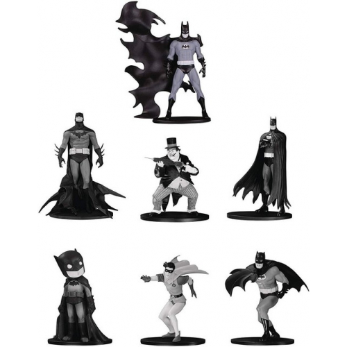 BATMAN BLACK & WHITE PACK 7 FIGURINES PVC BOX SET 4