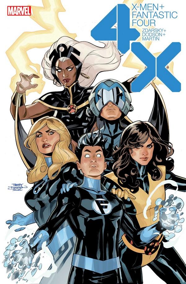 DF X-MEN FANTASTIC FOUR 1 Signé par Terry Dodson (VO)
