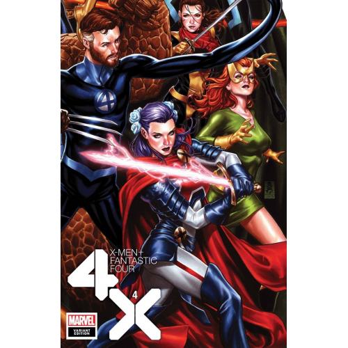 X-MEN FANTASTIC FOUR 4 (OF 4) BROOKS CONNECTING VAR (VO)