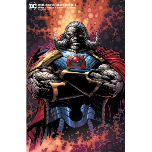DARK NIGHTS DEATH METAL 4 (OF 7) Darkseid card stock variant cover DAVID FINCH (VO)