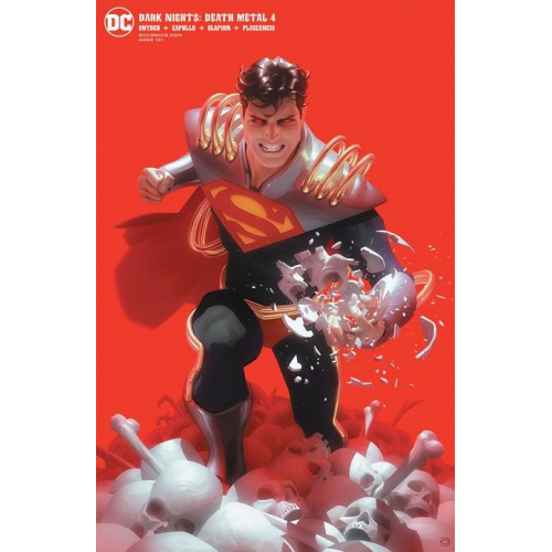 DARK NIGHTS DEATH METAL 4 (OF 7) Superboy-Prime card stock variant cover ALEX GARNER (VO)