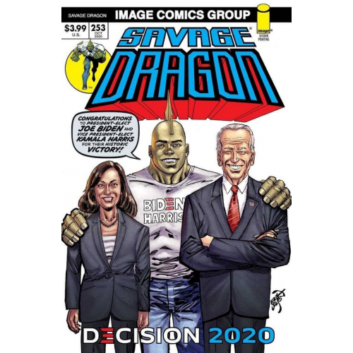 SAVAGE DRAGON 253 (VO) 2ND PRINT BIDEN HARRIS VICTORY VARIANT