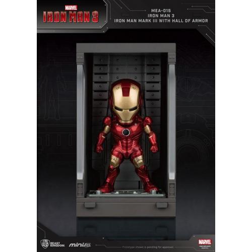 Marvel Comics - Iron Man 3 Mini Egg Attack figurine Hall of Armor Iron Man Mark III 8 cm