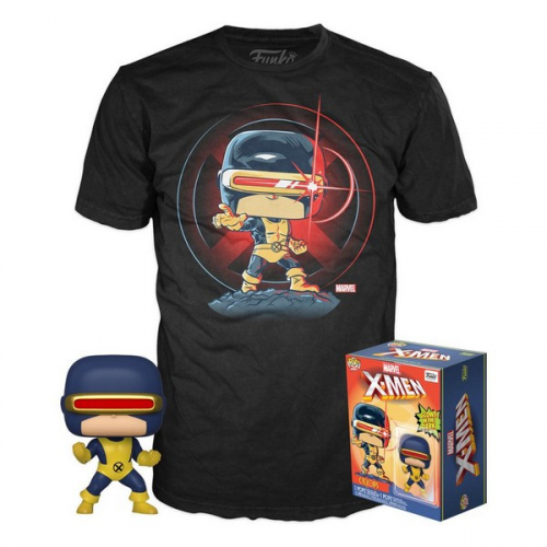 Funko Pop Marvel 80th POP! & Tee set figurine et T-Shirt First Appearance Cyclops
