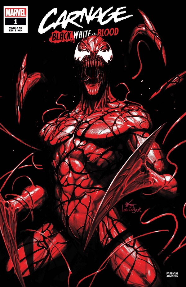 CARNAGE BLACK WHITE AND BLOOD 1 (OF 4) INHYUK LEE VAR (VO)