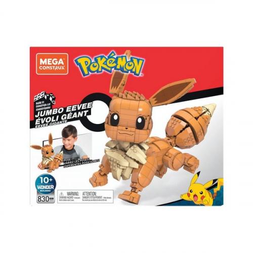 Pokémon jeu de construction Mega Construx Wonder Builders Évoli Géant 29 cm