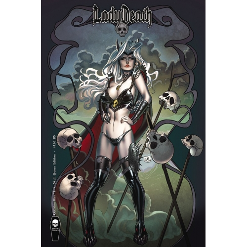 Lady Death Oblivion Kiss 1 Skull Queen Cover (VO) Nei Ruffino