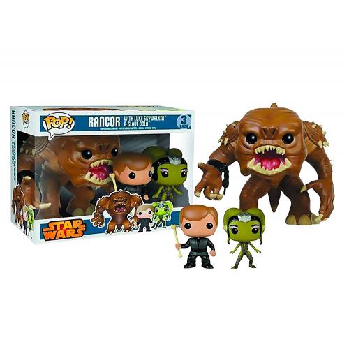 Star Wars FUNKO POP! Figures 3-Pack Rancor, Luke Skywalker & Slave Oola